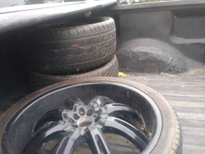 22inch black spider rims for Sale in Whitehall, OH