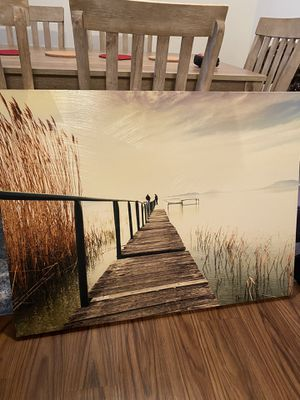 Fishing pier canvas for Sale in Frederick, MD