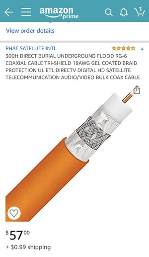 RG6 underground cable, coax cable for Sale in St. Petersburg, FL