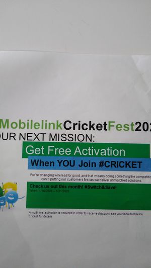 CricketFest 2020 for Sale in Chicago, IL