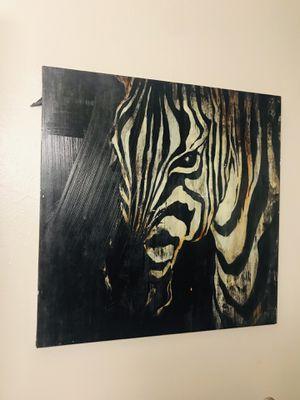 Zebra wall decor for Sale in Tacoma, WA