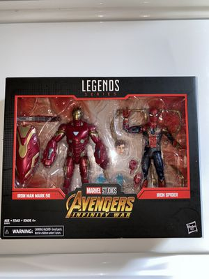 Marvel legends Spider-Man and Ironman 2pack for Sale in Long Beach, CA