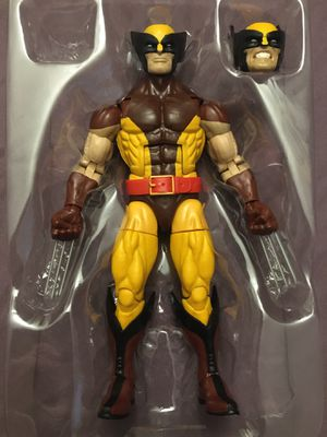 Marvel Legends vintage wolverine with extra head from apocalypse baf for Sale in Wichita, KS