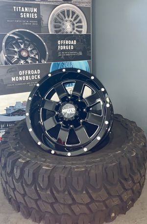 "FIVE 17X10 Moto Metal Wheels w/ 35"" Mud Tires BRAND NEW for Sale in Miami, FL"