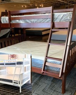 Twin Over Full Bunk Bed Plus Mattress (Free Delivery ) for Sale in Austin,  TX