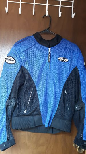 Breathable blue motorcycle jacket for Sale in Onalaska, WA