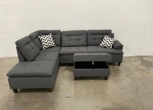 Storage ottoman set with sofa sectional new in boxes 104x75 for Sale in Fort Lauderdale, FL