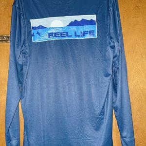 Men's Fishing Shirts Moisture Wicking Reel Life Large for Sale in Jamestown, NC