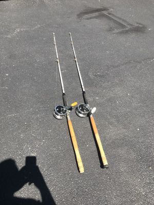 Deep sea fishing poles with Penn #49 reel for Sale in Shelton, CT