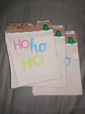 """3 Christmas Gift Bags. Small 6""""X6"""" for Sale in Marietta, GA"""