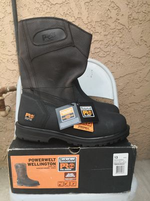 Brand new timberlands pro series steel toe work boots size 13 for Sale in Riverside, CA