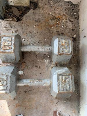 Set of 25 lbs dumbbells for Sale in Homestead, FL