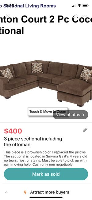 Sectional sofa for Sale in Mableton, GA