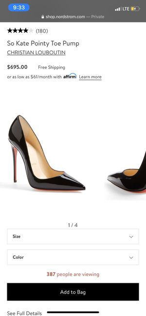 Christian Louboutin So Kate Pointy Toe Pump for Sale in Seattle, WA
