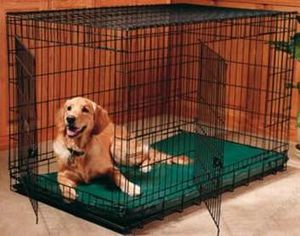 New in box 48x30x32 inches tall large 2 doors foldable dog cage crate kennel for pet up to 100 lbs for Sale in Whittier, CA
