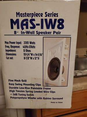 Home surround in wall speakers for Sale in East Wenatchee, WA
