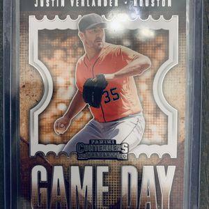 Justin Verlander gameday Card. Panini Contenders Baseball Houston Astros for Sale in Vista, CA