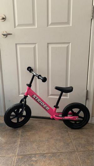 Used Pink Strider Balance Bike for Sale in North Las Vegas, NV