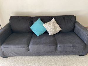 carbon black sofa/couch.. negotiable for Sale in Fort Lauderdale, FL