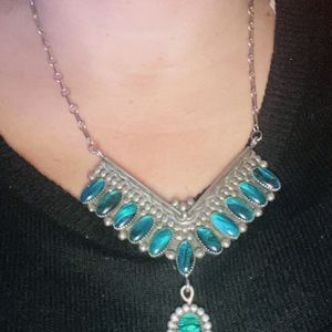 Native American Malachite Necklace Stamped for Sale in Gilbert, AZ