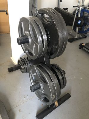 Fitness Gear Olympic Weight plates and bars for Sale in Phoenix, AZ