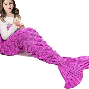 Knitted Aqua And Purple Mermaid Tail Blanket for Sale in Arcadia, CA