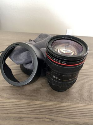 Canon 24-105mm F/4 L IS USM lens for Sale in Land O Lakes, FL