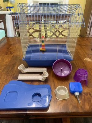 Hamster cage and accessories for Sale in New Britain, CT