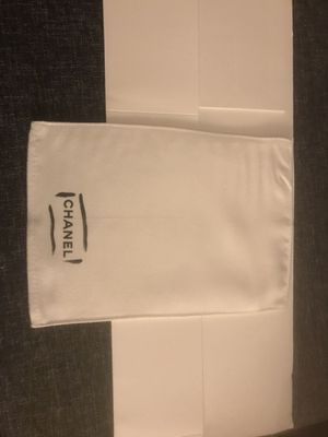 Chanel White Dust Bag For Small Bag ,wallet 7 3/4 X5 1/2 for Sale in Quincy, MA