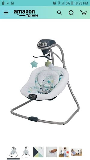 Graco Simple Sway Baby Swing | 2 Speed Vibration, Stratus for Sale in Sacramento, CA