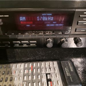 Denon AVR-810 RECEIVER AND DENON CASSETTES TAPE DECK DRM-600 W REMOTE WORKS for Sale in Whittier, CA