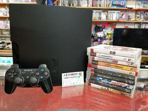 PlayStation 3 PS3 with 10 games for Sale in Houston, TX