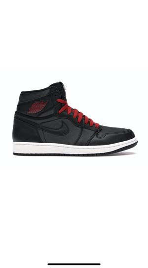 Jordan 1 satin black gym red size 11 for Sale in San Diego, CA