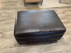 Rectangular faux leather storage ottoman for Sale in Yorba Linda, CA