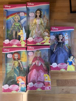 Disney Princess Porcelain Doll Set Special Edition Brass Key for Sale in Cypress, CA