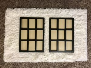 Two matching black collage picture frames for Sale in Lincoln, NE