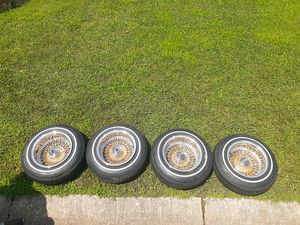 """13"""" lowrider rims with tires for Sale in Chicago, IL"""