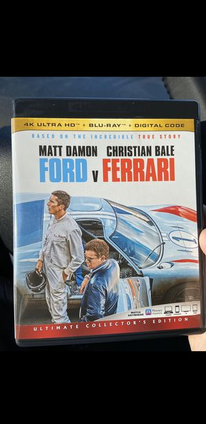 FORD VS FERRARI BLU RAY DISC for Sale in Westminster, CA