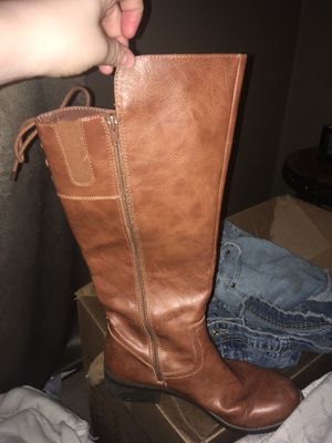 Knee high brown boots for Sale in Brookland, AR