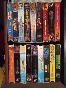 Classic old cartoon vhs tapes with case for Sale in Wichita, KS
