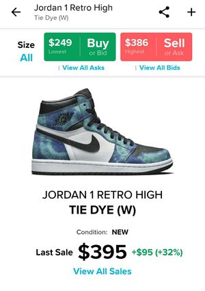 Jordan 1 Tie Dye for Sale in Sunnyvale, CA