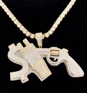 Sterling Silver Money 💰 Power 🔌 Respect 🔫 Heavy Custom Chain for Sale in Atlanta, GA