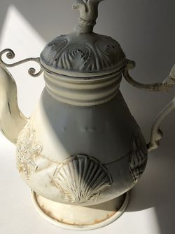 Vintage Water Pitcher Or Flower Vase- Shell Decor for Sale in Huntington Beach,  CA