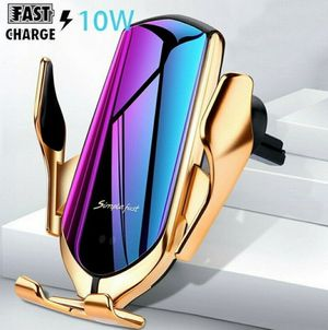 Gold Wireless Automatic Clamping Smart Sensor Car Phone Holder and Fast Charger 10W for Sale in Los Angeles, CA