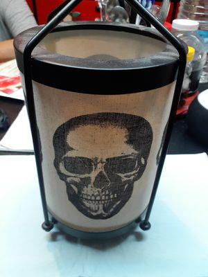 Metal skull candle holder for outdoor or inside $5 for Sale in Las Vegas, NV