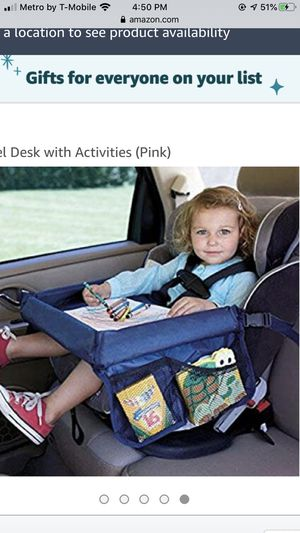 Kids lap desk with waist belt with so many pocket new never used for Sale in Norwalk, CA