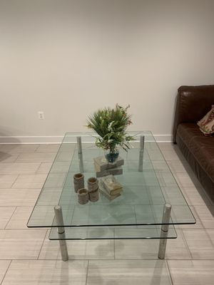 Custom Glass Table. for Sale in Annandale, VA