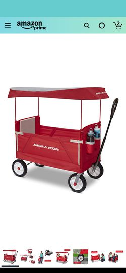 Radio Flyer 3 in 1 Off-Road EZ Fold Wagon with Canopy, Red for Sale in Forest Park, IL
