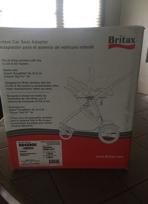 Brand new Britax infant car seat adapter for Sale in San Diego, CA