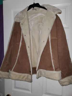 Womens brown warm leather coat for Sale in Fort Worth, TX